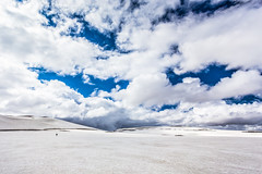 Lonely Hiker (Anthony Gehin) Tags: trek mountain laugavegur landmannalaugar iceland snow hiker