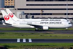 Japan Airlines | Boeing 767-300ER | JA603J | Tokyo 2020 logos | Tokyo Haneda (Dennis HKG) Tags: aircraft airplane airport plane planespotting oneworld canon 7d 100400 tokyo haneda rjtt hnd japanairlines jal jl japan boeing 767 767300 boeing767 boeing767300 767300er boeing767300er ja603j