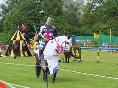 DSCF3837 (SierPinskiA) Tags: ruffordabbeycountrypark rufford knightsofnottingham fujixs1 jousting medieval horse knights goldeneagle falcon