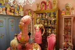 Today my dress matches my doll room! (Primrose Princess) Tags: dollydreamland primroseprincess lillypulitzer pink gold blythe doll kenner frenchfurniture paris france princess marieantoinette mannequin chandelier dollhouse vintage dollcollection