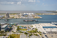 Falcon 9 Passing the Cruise Terminal (alloyjared) Tags: spacex falcon9 portcanaveral merahputih spacecoast florida jettypark helicopter aerialphotography floridaairtours