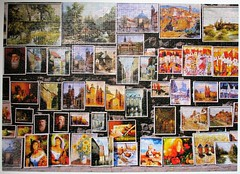 Street Gallery - 100K Project 2018 completed! (pefkosmad) Tags: jigsaw puzzle hobby leisure pastime kinginternational streetgallery collage complete used secondhand 1000pieces paintings art