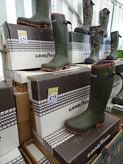 I need some new Goodyears... (stevenbrandist) Tags: boots goodyear rubber wellies wellingtonboots thegamefair display shoes footwear