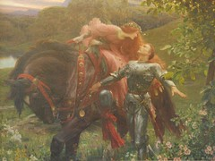 I hope she remembered to bring a can opener :-/ (skaradogan) Tags: labelledamesansmerci sirfrankdicksee painting bristol museum preraphaelite lady knight johnkeats ballad
