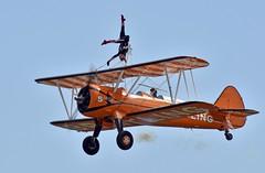 Wing-Walker (nickym6274) Tags: shuttleworthfamilyairshow 2018 shuttleworth oldwarden bedfordshire theflyingcircus breitling wingwalker boeingstearman aeroplane airshow aircraft sky