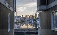 """Vancouver Reflections (John A. McCrae) Tags: canada """"britishcolumbia"""" """"northvancouver"""" """"floathome"""" mosquitocreekmarina vancouver reflection"""