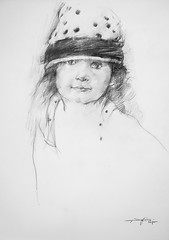 P1018598 (Gasheh) Tags: art painting drawing sketch portrait child girl pencil gasheh 2018
