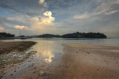 A Muddy Beach (henriksundholm.com) Tags: beach coast tide water mud sand clouds cloudy sky sunset ripples landscape nature sentosa keppelbay singapore southeast asia