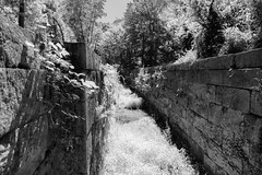 Photoshoot at Millville Lock (arckphoto) Tags: canal river summer lock massachusetts us nikon d5 blackandwhite history