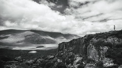 Exploring (Ray Moloney Photography) Tags: ifttt 500px ireland black white kerry county boy clouds mountains landscape lakes rocks shadows light silhouette