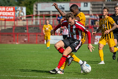 Altrincham FC vs Boston United - August 2018-137 (MichaelRipleyPhotography) Tags: altrincham altrinchamfc altrinchamfootballclub alty ball bostonunited community fans football footy goal header jdavidsonstadium kick mosslane nationalleaguenorth nonleague pass pitch preseason referee robins salfordcity save score semiprofessional shot soccer stadium supporters tackle team vanarama