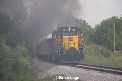 IAIS 703 2 (eslade4) Tags: iais iowainterstaterailroad iais6988 steam iais703 gp382 mitchellville fundraiser passengercars 2102 smoke