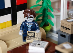 Braaains (lauradavison) Tags: lego moc custom office building reception mini figure zombie businessman newspaper brains