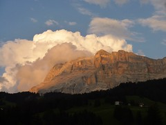 Enrosadira (anto474) Tags: tramonto sunset nuvole clouds enrosadira sass crusc badia val valley dolomiti trentino alto adige tirol
