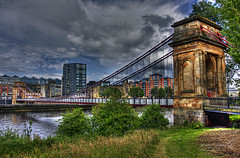 Glasgow 13 July 2016-0167.jpg (JamesPDeans.co.uk) Tags: transporttransportinfrastructure greatbritain forthemanwhohaseverything landscape bridge water gb printsforsale glasgow industry roads landscapeforwalls unitedkingdom strathclyde suspensionbridge sea hdr wwwjamespdeanscouk europe scotland britain river riverclyde objects camera footbridge jamespdeansphotography estuary coast uk digitaldownloadsforlicence