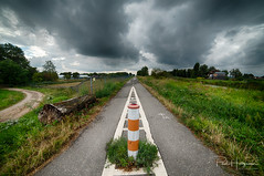 Clouds over Mijdrecht - 1 (PaulHoo) Tags: dramatic cloud cloudporn skyporn mijdrecht landscape nature nikon d750 wideangle ultrawideangle samyang 14mm hdr road path sign split summer 2018