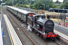 Ex-GNR(I) Q Class Steam Locomotive (131) on the Portrush Flyer, Antrim Station, 12/08/2018 (nathanlawrence785) Tags: rpsi portrush flyer 2018 131 gnr gnri antrim railway train station mk2 coaches stock northern ireland steam locomotive preservation society vehicle outdoors