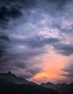 Coucher de soleil sur la vallée de Méribel