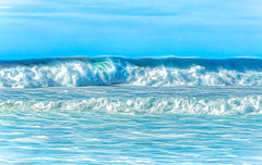 Between the Waves (docoverachiever) Tags: glenedenbeach oregoncoast ocean waves sea sky digitalart water blue oregon