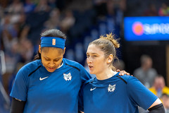 Lindsay Whalen talks with Maya Moore before the Minnesota Lynx vs Chicago Sky game (Lorie Shaull) Tags: minnesota minneapolis minnesotalynx lynx wnba womensbasketball basketballplayer basketball mayamoore lindsaywhalen targetcenter