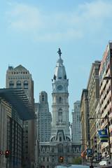 Philadelphia, PA - City Hall (jrozwado) Tags: northamerica usa pennsylvania philadelphia cityhall benjaminfranklin statue tower clock