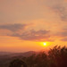 Orange Sunset Over Serbian Village