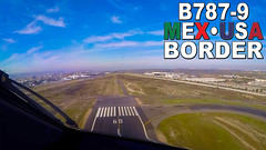 Boeing 787 Pilotsview over MEXICO-USA Border (JustPlanes) Tags: aeromexico boeing 787 7879 dreamliner mexico tijuana usa border pilot pilots pilotseye pilotseyes pilotsview pilotsviews cockpit cockpitview flightdeck just planes justplanes aviation airline flying takeoff