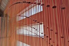 Wellington, NZ - Te Papa Museum - Toi Art Exhibition - Indra's Bow (zorro1945) Tags: wellington nz northisland newzealand tepapamuseum toiartexhibition indrasbow artinstallation art ribbons globes windows light