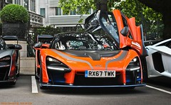 McLaren Senna (Jack de Gier) Tags: london uk england mclaren senna v8 twinturbo engine petrol performance wing wingdoors extreme sportscar supercar racecar hypercar worldcar worldcars exotic mayfair knightsbridge belgravia chelsea mclarenlondon mso unique limited rare harrods jackdegier supercarsoflondon dorchester thedorchester orange carbon carbonfiber lightweight pirelli pzero silverstone prototype led parklane horsepower 800bhp topaz nikon modified