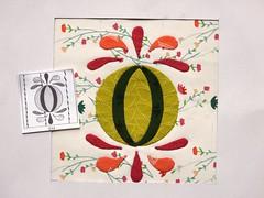Chuck Nohara Block 494  Hand stitched applique (ompompali Claudia) Tags: chucknohara applique handstitching patchwork paperpiecing