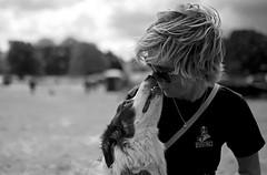 The reward (A child in the night) Tags: bw dog care mono bordercollie sheepdog loyalty friend sheepdogtrials