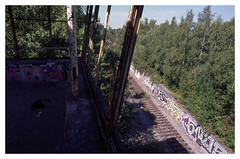 Abandoned Post-3, Bochum (jmvanelk) Tags: bochum germany ruhrgebiet abandoned post3 railway industry nikonf100 nikkor2820mm ektachrome e100gx vintage analog expiredfilm filmisnotdead westpark