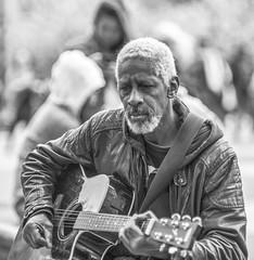 And On the Blues Guitar (J MERMEL) Tags: music park jazz guitar singer