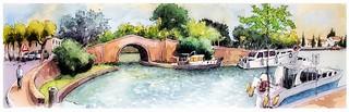 Castelnaudary - canal du Midi - Occitanie - France