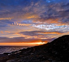 Codi angor (pauldunn52) Tags: ogmore by sea deeps sunset sheep ledges common glamorgan heritage coast wales