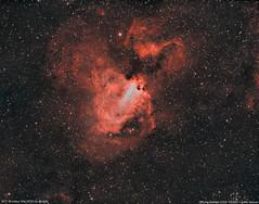 M17 Omega nebula bi-colour Ha_HOO (lukfer) Tags: m17 messier17 nebula nebulosa laredo cantabria astrometrydotnet:id=nova2714179 astrometrydotnet:status=solved