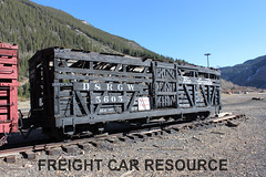 DRGW 5605 (Freight Car Resource) Tags: denverriograndewestern riogrande narrowgauge freightcar 3footgauge drgw drg denverriogrande train railroad railway stockcar sheep cattle