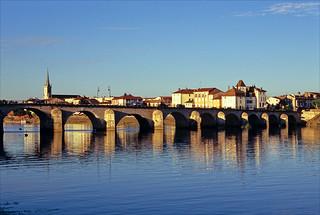 the bridge over the river Saône