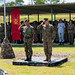 Multinational military leaders salute during the opening ceremony of Cooperation Afloat Readiness and Training, Malaysia on Kota Belud Marine Base