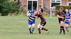 Getting round (Steve Barowik) Tags: yorkshire westyorkshire nikond500 barowik leeds ls26 stevebarowik sbofls26 rugbyleague rl nationalleague 70200mmf28gvrii sport competition try conversion penalty sinbin referee linesman ball pitch sticks posts team watercarrier dx cropframe kick pass offload dropkick forwardpass centre wing prop forward back fullback unlimitedphotos wonderfulworld quantumentanglement oultonraiders shawcrosssharks nationalconferencedivisionone