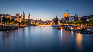 Zurich during Blue Hour