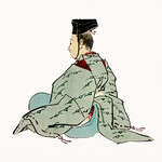 Ancient japanese emperor by Kōno Bairei (1844-1895). Digitally enhanced from our own original 1913 edition of Barei Gakan. thumbnail