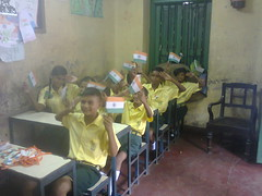children actively participate on Indian Independence day celebration (JAYITA_ MALLICK) Tags: indian municipality schools pupils classroom elementary education