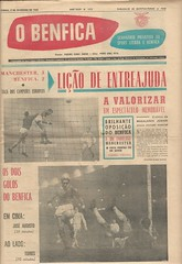 """""""0 Benfica"""" official newspaper of the Benfica club shows how Manchester United won the 1st leg of the European Cup in 1966 (Leslie Millman-Manchesterunitedman1) Tags: stadiumoflight benfica portugal"""