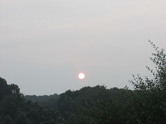The Sun also rises (creed_400) Tags: sunrise dawn fog clouds sun belmont west michigan august summer