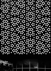 Analog (Ray Moloney Photography) Tags: ifttt 500px building pattern black white dots snow windows reflections storm