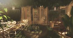 Oxygen.. (kellytopaz) Tags: pond turtle jian second life garden greenhouse home plants ivy wicker patio furniture