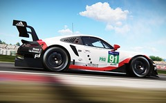 Porsche 911 RSR at Catalunya (clucksworld) Tags: projectcars2 pcars2 porsche 911 rsr barcelona catalunya slightlymadstudios sms photomode