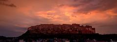 Fort of the Sun God (ajecaldwell11) Tags: jodha mehrangarh ankh buildings caldwell castle clouds fort fujifilm india jodhpur light lights sunset xe3