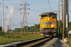 UP 9009 @ Michigan City, IN (Michael Polk) Tags: michigan city nipsco generating station chicago south shore bend railroad freight train coal emd sd70ah interurban up 9009